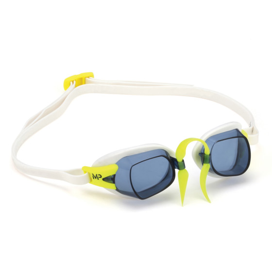 Phelps Okulary pływackie CHRONOS Dark white/lime