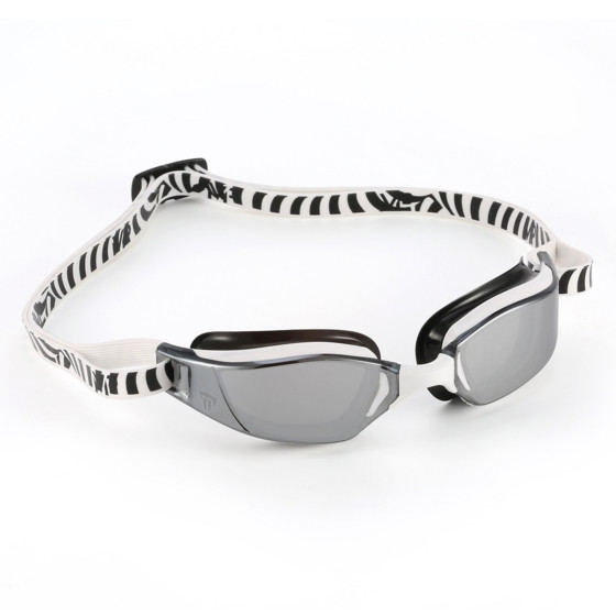 Phelps Okulary Pływackie XCeed Mirror white/black