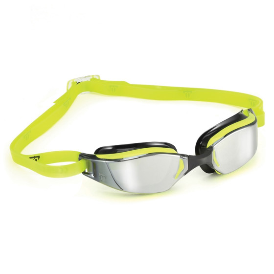Phelps Okulary Pływackie XCeed Mirror yellow/black