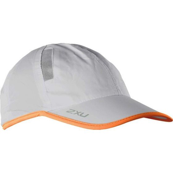 2XU Czapka Biegowa Run Cap orange/grey